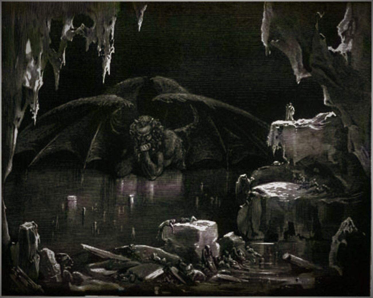Fig. 4 Gustave Doré, Raffigurazione di Lucifero, 1860 64