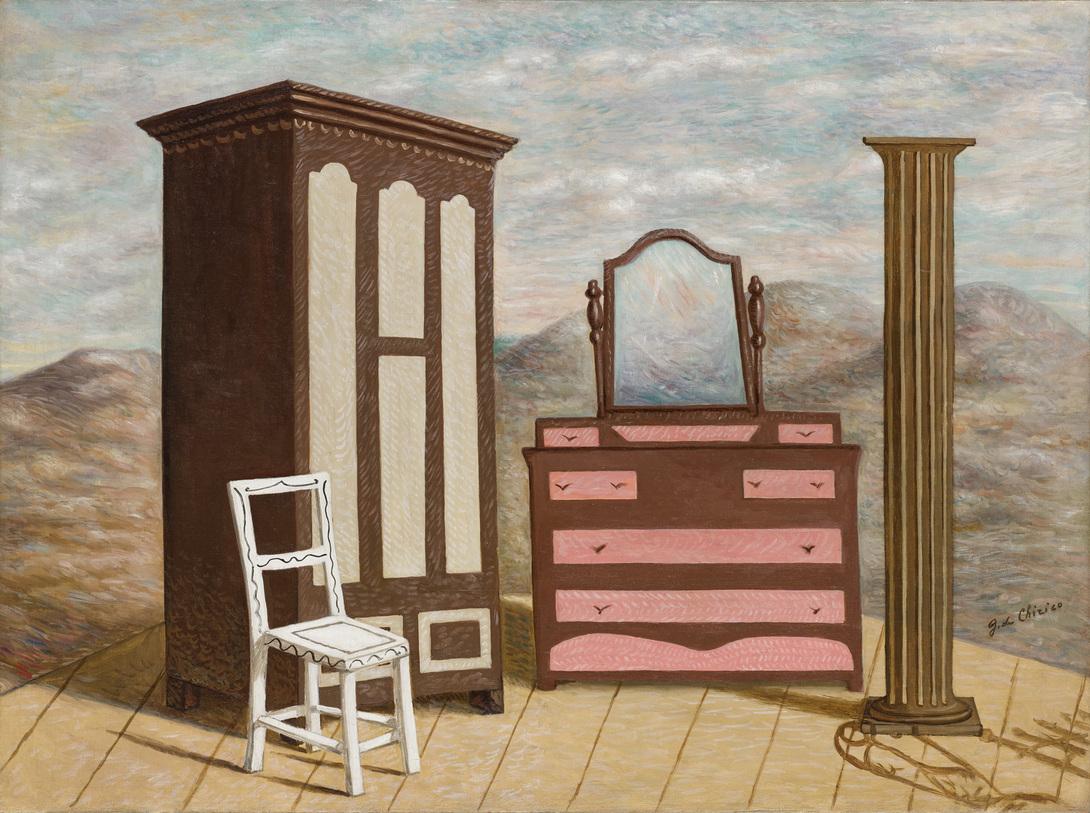 Giorgio de Chirico, Mobili nella Valle (1928) Courtesy Sotheby's