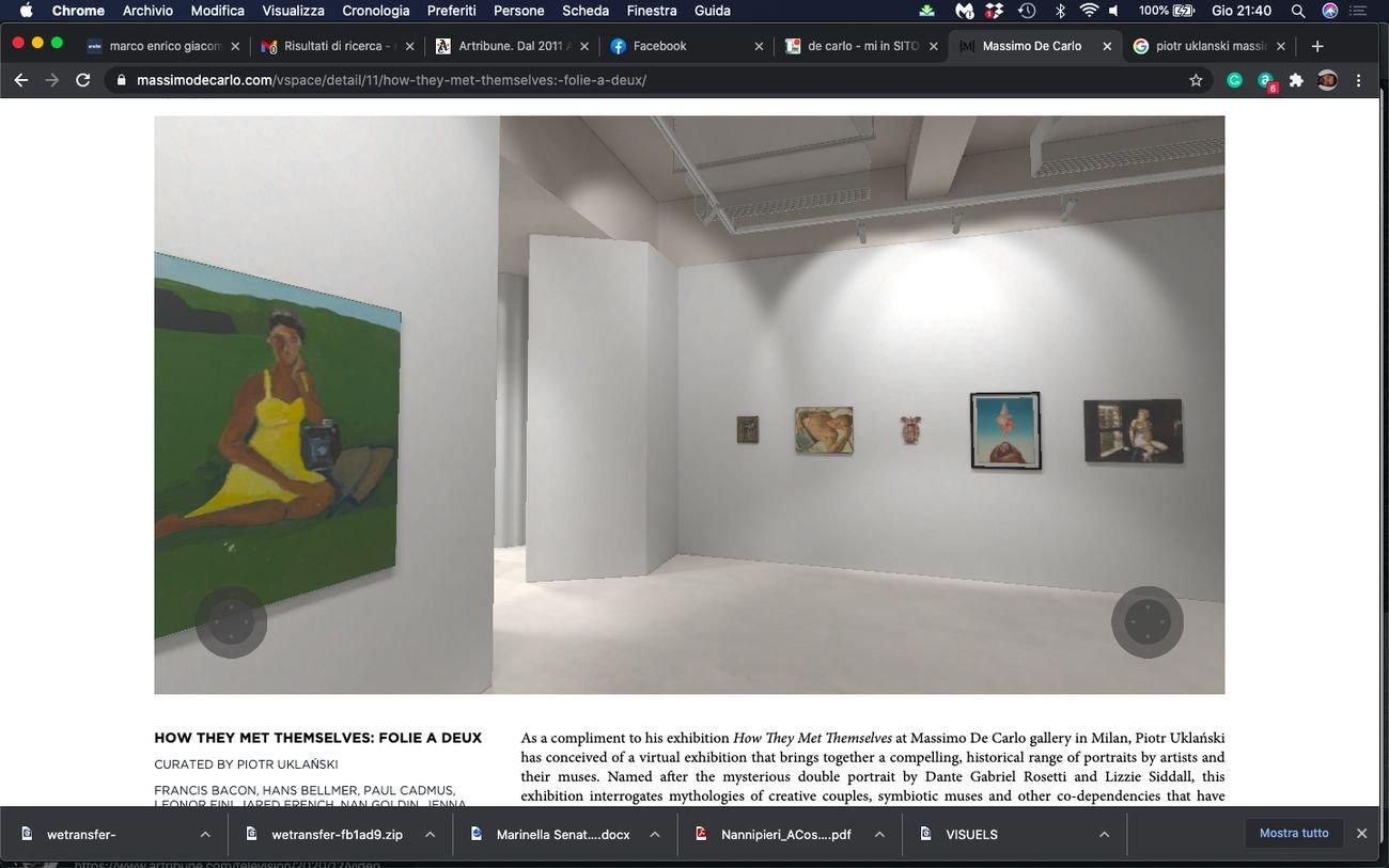 How They Met Themselves. Folie à deux, a cura di Piotr Uklanski. Exhibition view at Massimo De Carlo VSpace, 2020