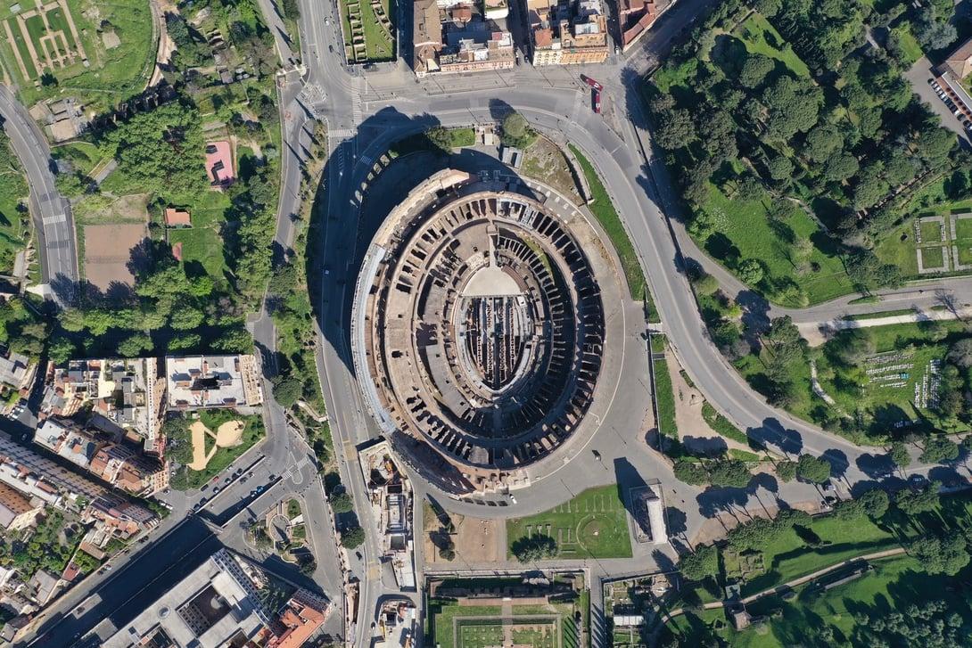 Il Colosseo ripreso dal drone