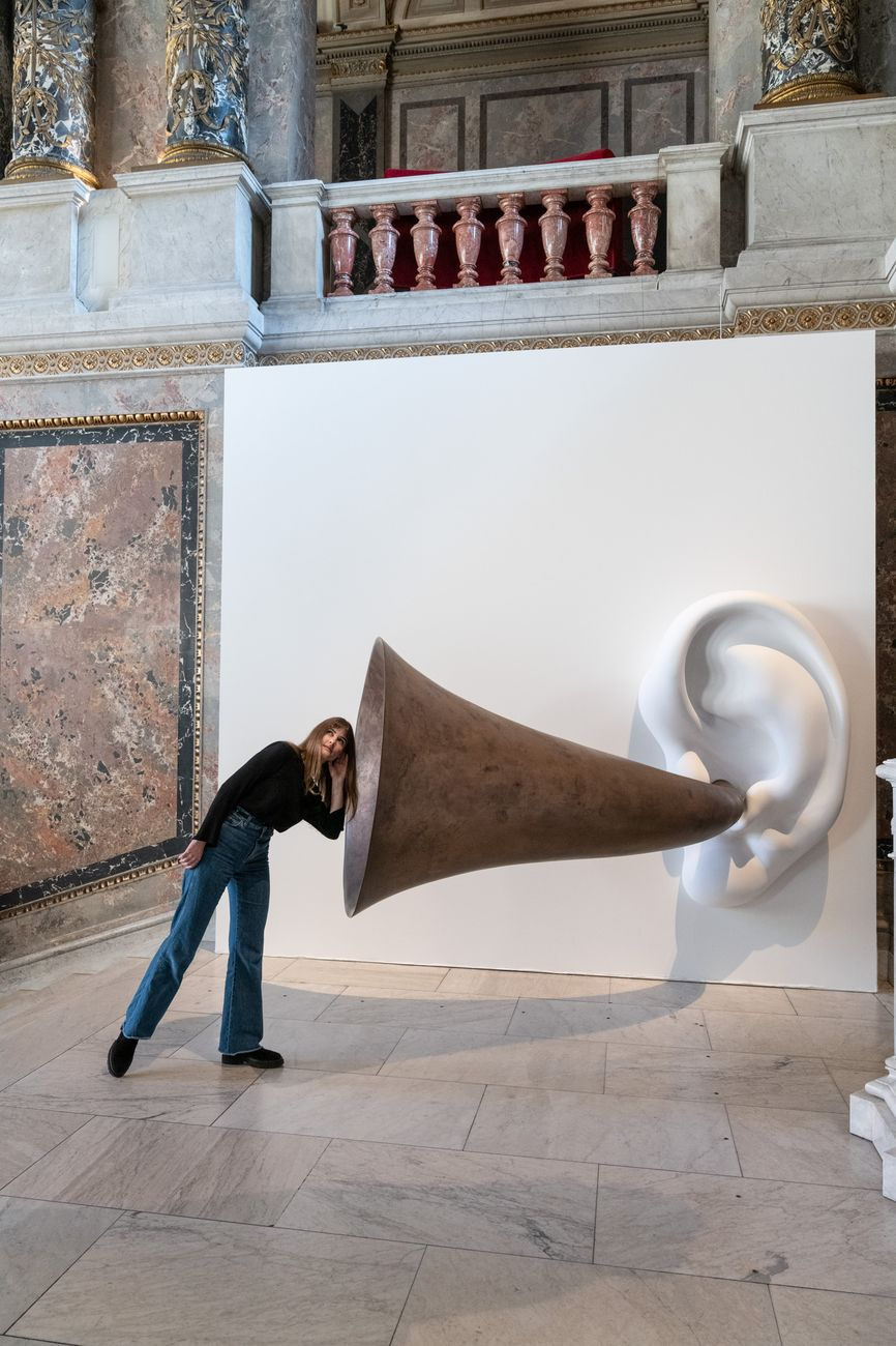 John Baldessari, Beethoven's Trumpet (with Ear) Opus # 133, 2007 © John Baldessari. Courtesy the artist & Sprüth Magers & Beyer Projects. Photo KHM Museumsverband