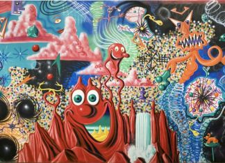 Kenny Sharf, When the Worlds Collide, 1984. Whitney Museum of American Art, New York
