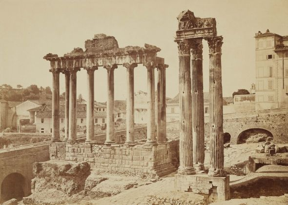 Lempertz 1161 804 Photography incl Rome in Early Photographies - Auguste Rosalie Bisson called Bisson Jeune Roman Forum Temple of Saturn and Temple of Jupiter
