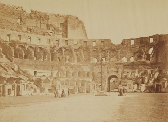 Lempertz 1161 827 Photography incl Rome in Early Photographies - Gioacchino Altobelli Pompeo Molins Interior View of the Colosseum