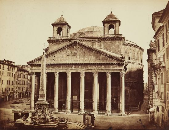 Lempertz 1161 829 Photography incl Rome in Early Photographies - Angelo und Giacomo Luswergh Pantheon