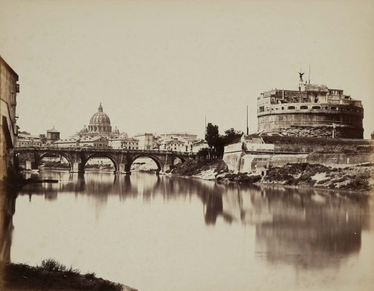 Lempertz 1161 840 Photography incl Rome in Early Photographies - Tommaso Cuccioni View of the Tiber River with Castel SantAngelo