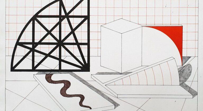 Lucio Del Pezzo, Senza titolo, 1978, inchiostro e acquarello su carta, 27,5x38 cm (dettaglio)