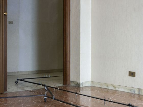 Marco Emmanuele. Drawing Machine #8. Installation view at Casa Vuota, Roma 2020