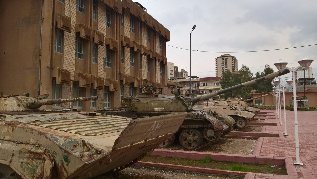 Museo Nazionale di Amna Suraka di Sulaymaniyah. Carri armati