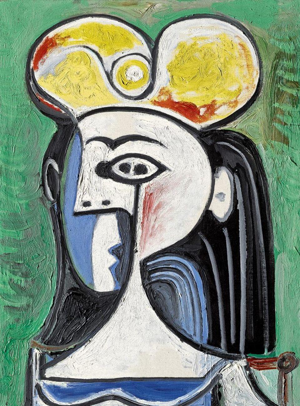 Pablo Picasso, Buste de femme assise, 1962. Courtesy Sotheby's