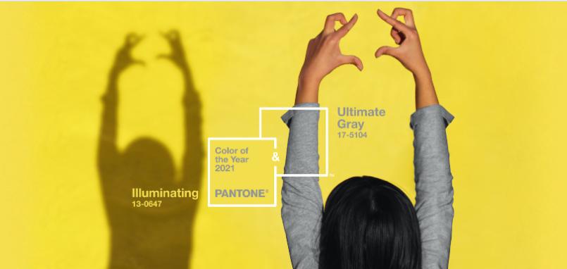 Pantone 2021 Ultimate Grey e Illuminating