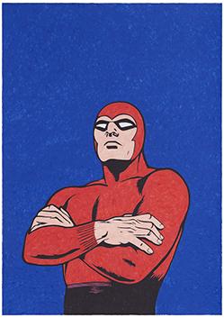 Leandro Agostini, Phantom, 2020, matite acquerellabili su carta, cm 100x70, Courtesy Galleria In Arco