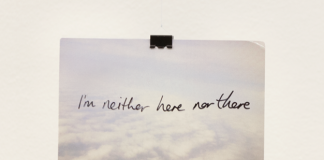 Ruth Proctor, I am neither here nor there (postcard), courtesy Galleria Norma Mangione