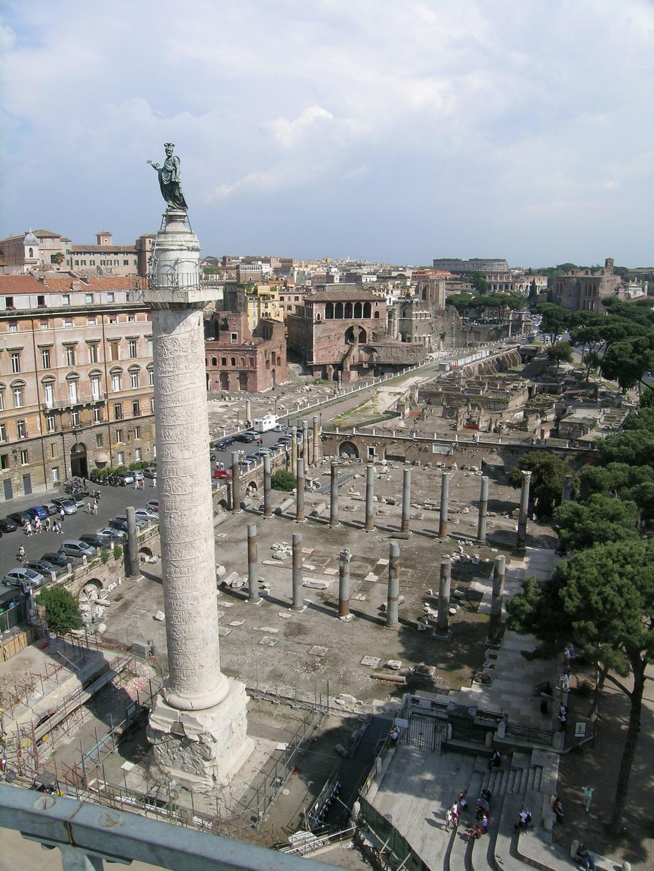 Via Alessandrina, Veduta dall'alto prima dei lavori, Roma
