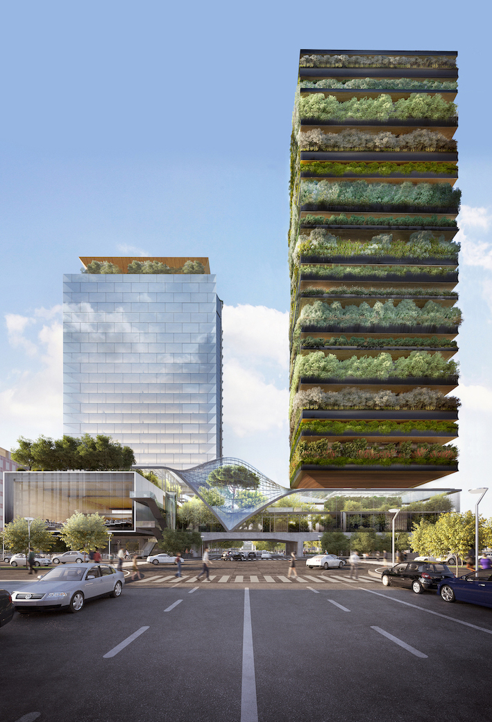 Pirelli 39, North View Courtesy of Diller Scofidio + Renfro and Stefano Boeri Architetti, Rendering by Aether Images