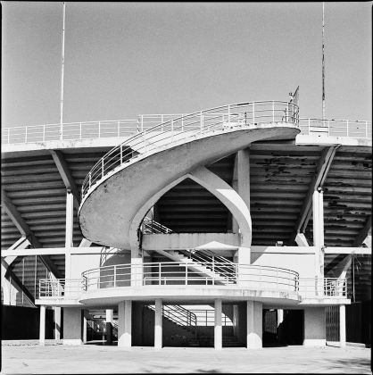 Stadio Artemio Franchi, one of the helical staircases ©Marco Menghi. Courtesy Pier Luigi Nervi Project Association