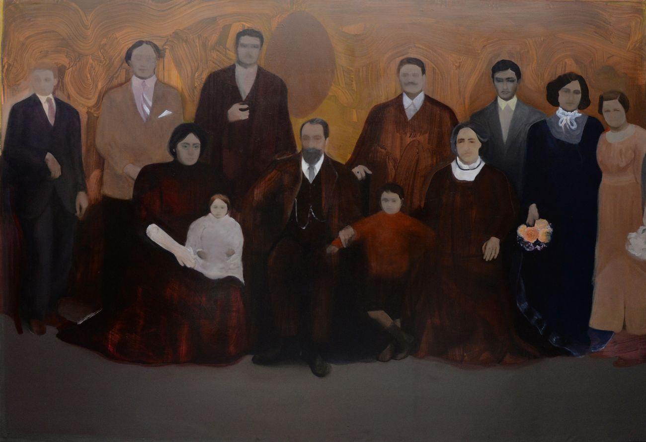 Beatrice Alici, L'importanza delle origini, 2018 19, olio su tela, 200x290 cm