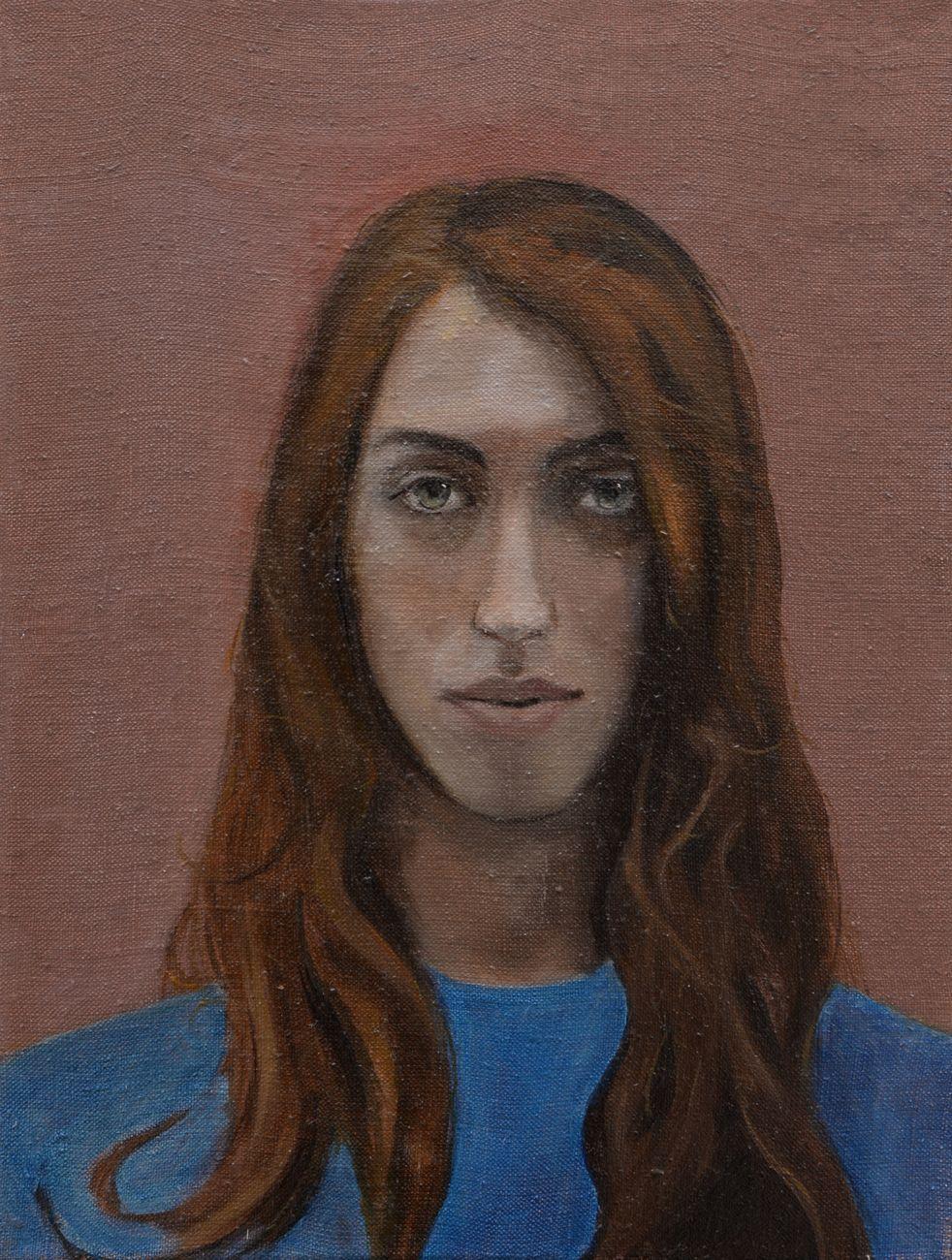 Beatrice Alici, Selfies n. 6, 2018, olio su lino, 30x40 cm