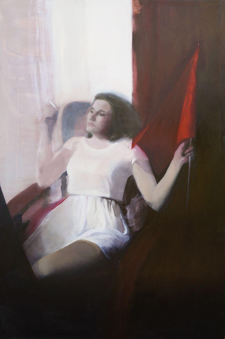 Beatrice Alici, Sulltane, 2017, olio su tela, 177x120 cm