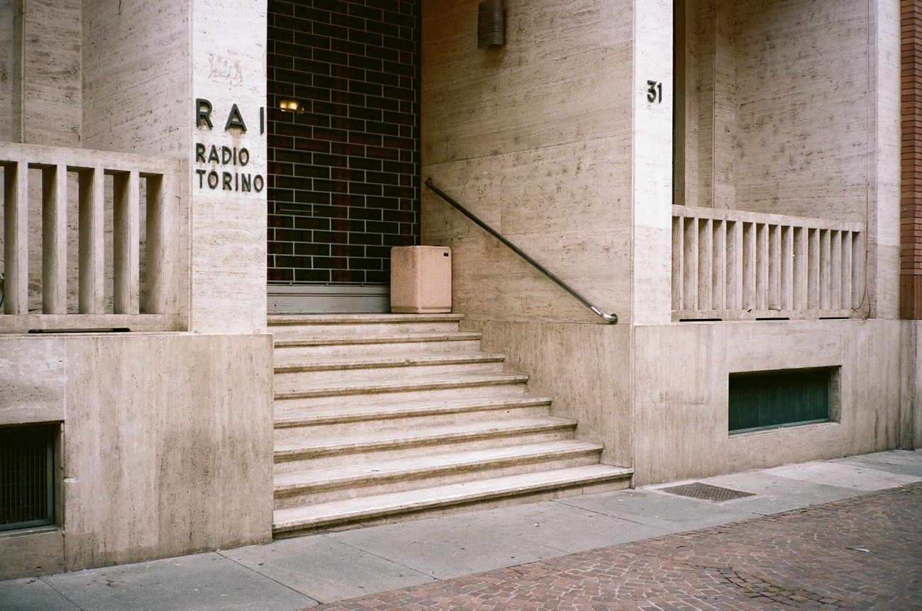 Ciro Miguel, Entrance stairs, 2018. Rai building, Torino