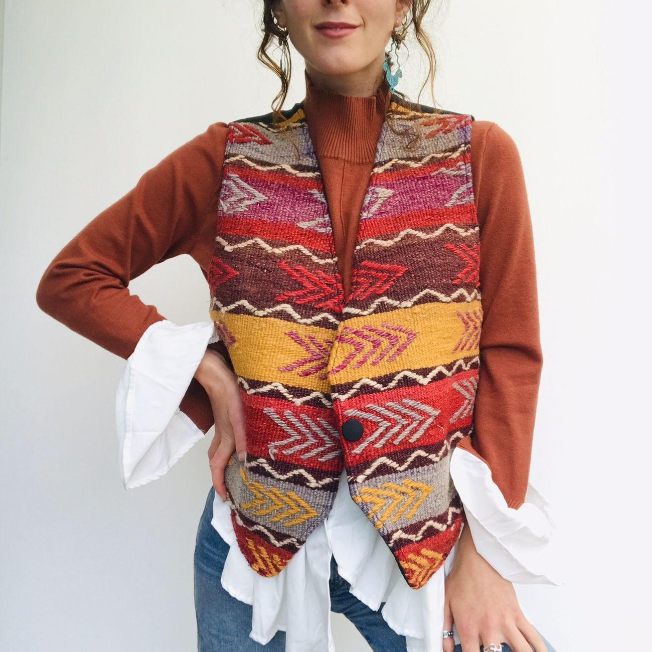 Depop. Vintage Kilim Vest