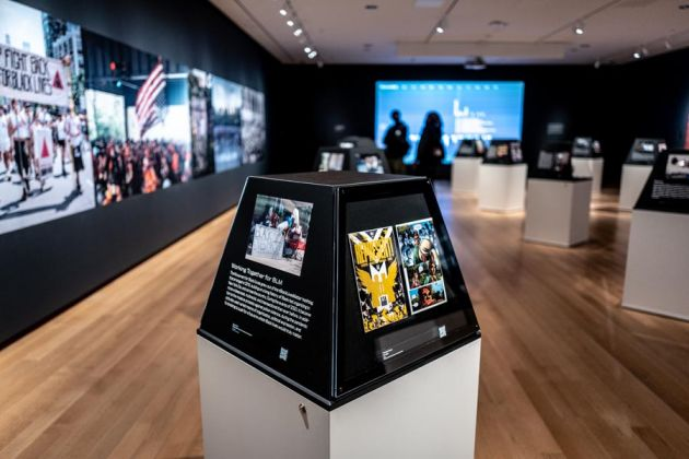 Exhibition view della mostra New York Responds The First Six Months al Museum of the City di New York. ph. Francesca Magnani