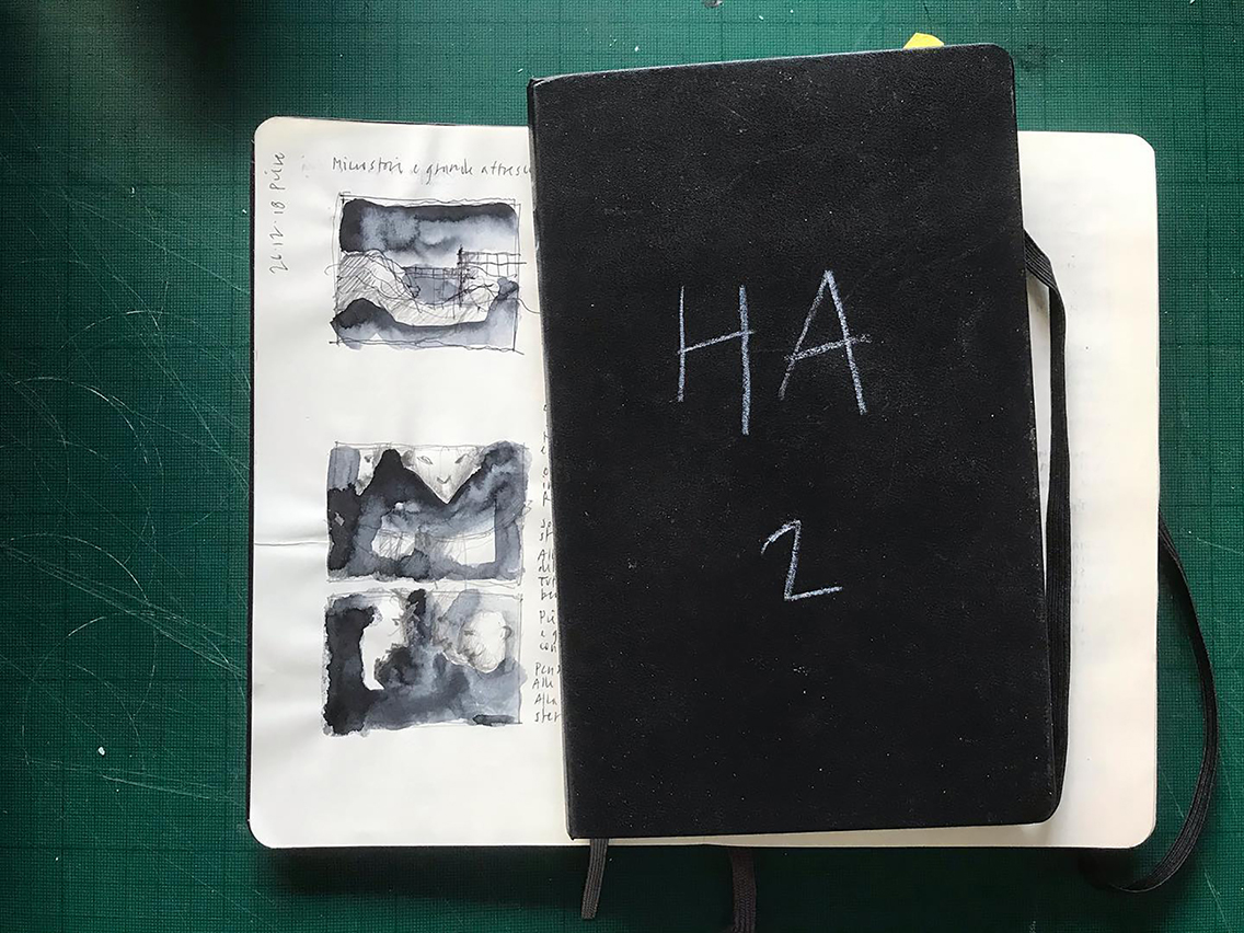 I taccuini dedicati al progetto HA di Roberto Paci Dalò, courtesy l'artista