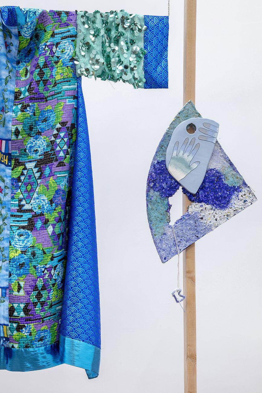 Ludovica Gioscia, Arturo And The Vertical Sea, 2020. Installation view at Gallery Baert, Los Angeles. Photo Joshua White