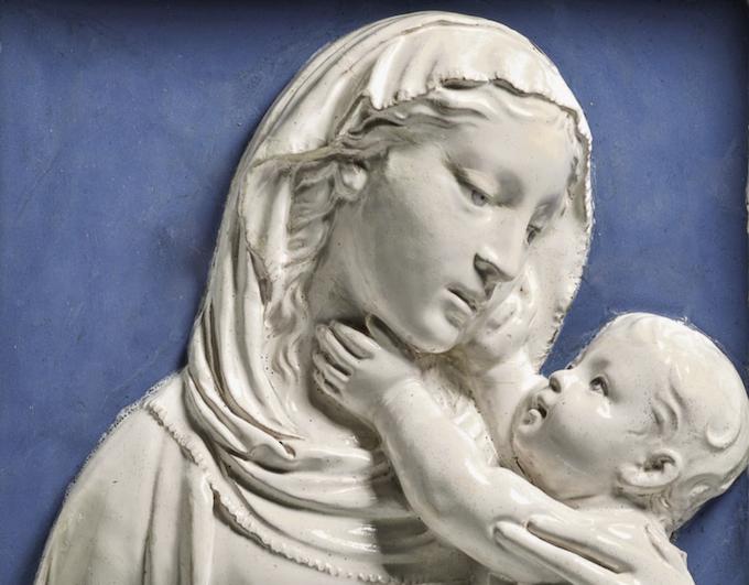 Madonna col Bambino di Luca Della Robbia
