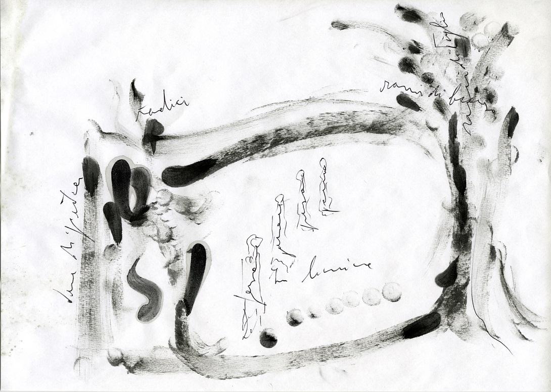Giuseppe Penone, In limine - schizzi e note di lavoro ©Archivio Penone