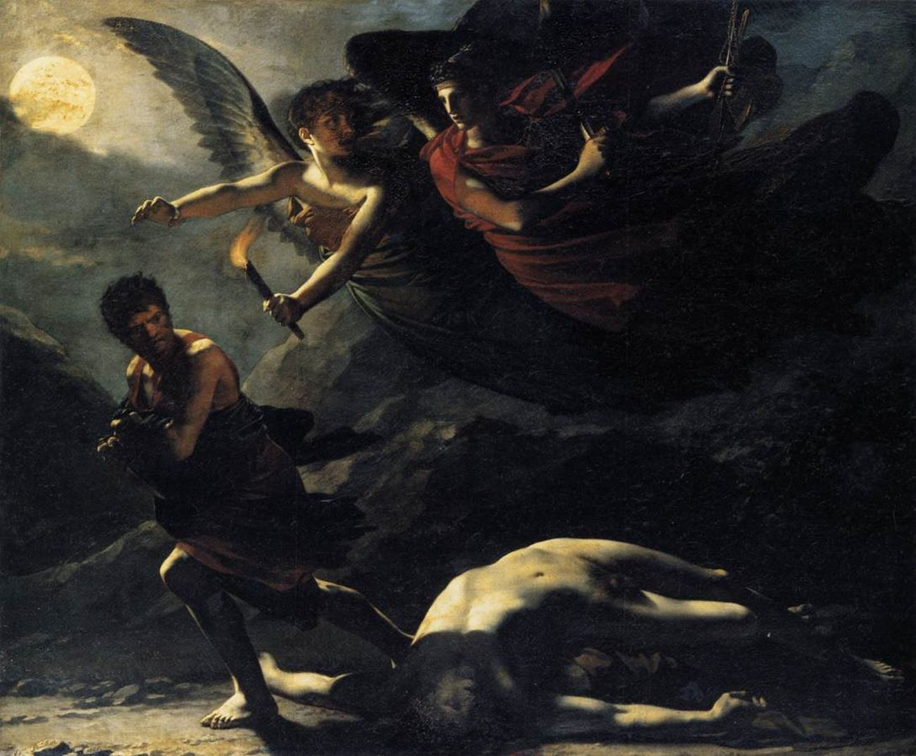 Pierre Paul Prud'hon, La Giustizia e la Vendetta divina perseguono il Crimine, 1805. Getty Museum, Los Angeles