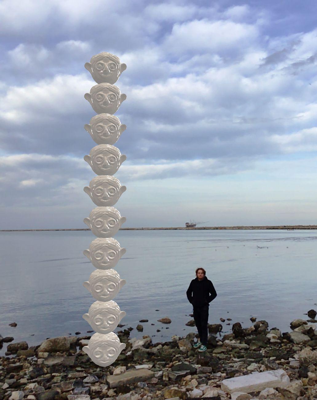 Raffaele Fiorella, Sculture da mare, 2021, progetto sperimentale in Realtà Aumentata