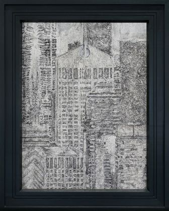 Richard Artschwager, AT&T Building in the Year 2000, 1987, acrilico su Celotex, in cornice d'artista in legno dipinto, 138.7 x 111 cm © 2020 Richard Artschwager - Artists Rights Society (ARS), New York. Photo Julien Grémaud