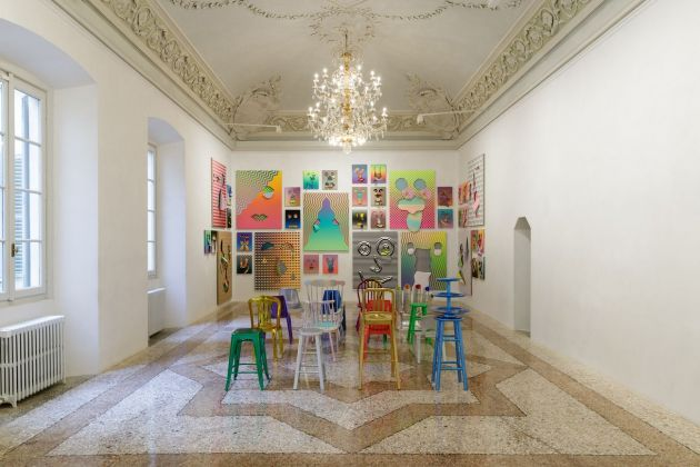 Rob Pruitt. Masks. Installation view at Galleria Massimo De Carlo, Milano 2020