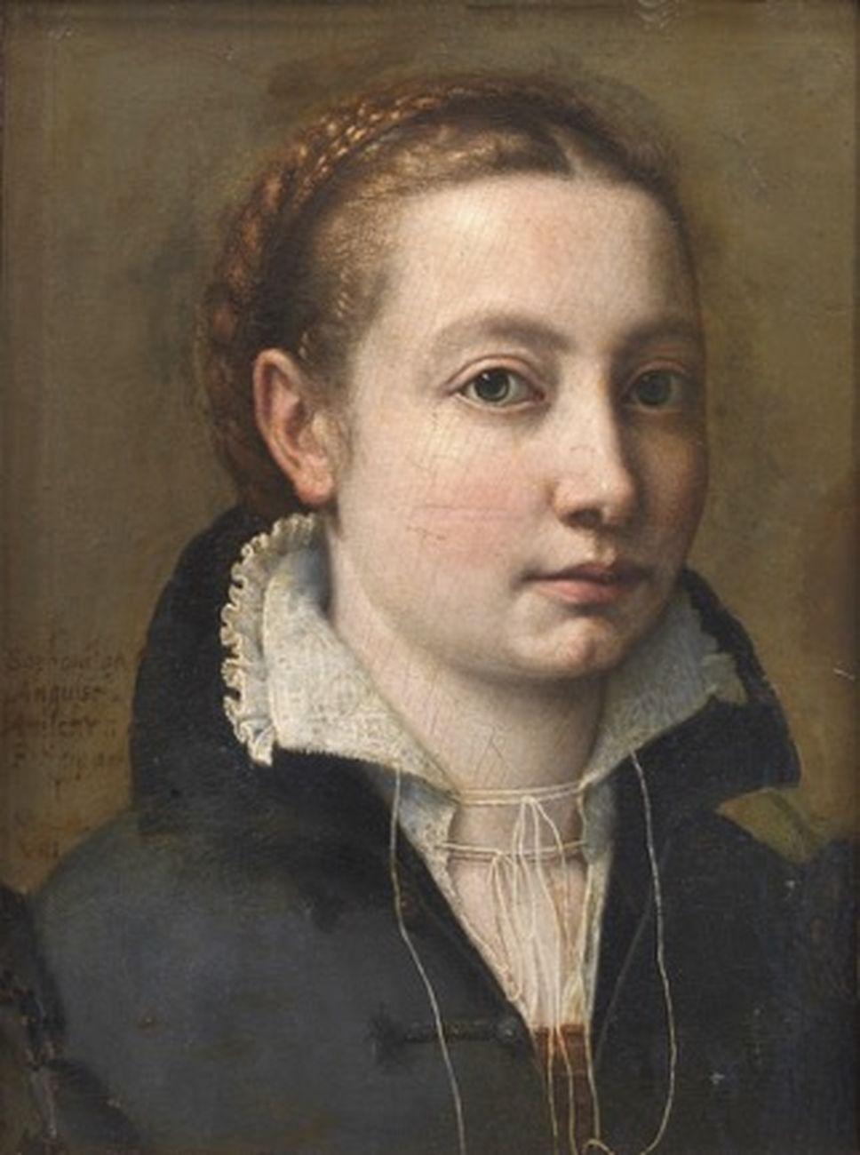 Sofonisba Anguissola, Autoritratto, 1558. Galleria Colonna, Roma