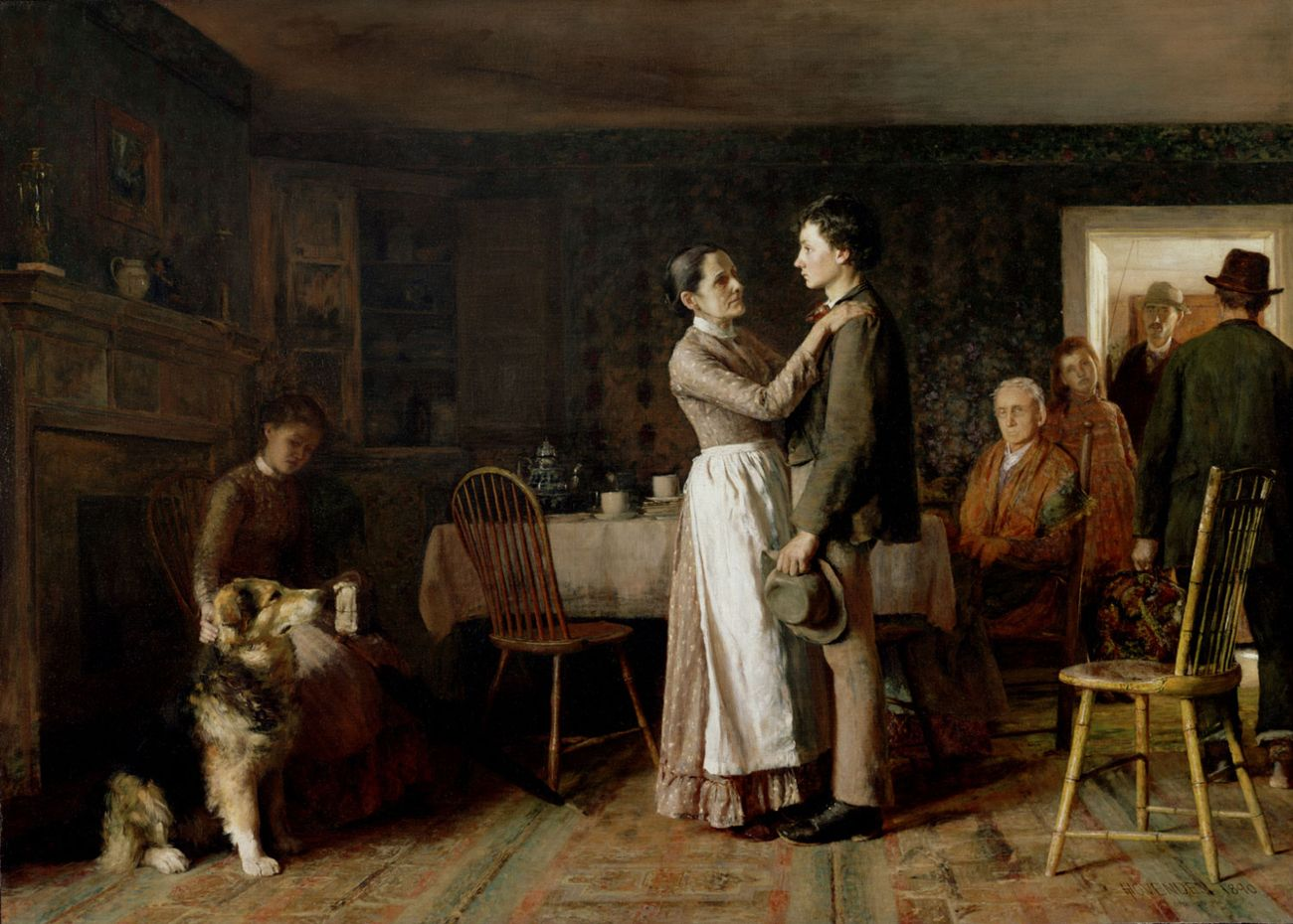 Thomas Hovenden, Breaking Home Ties, 1895. Philadelphia Museum of Art