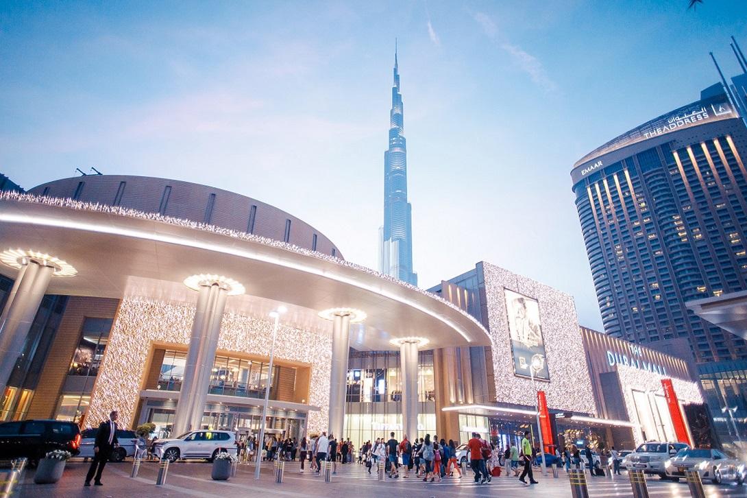 Una veduta del Dubai Mall