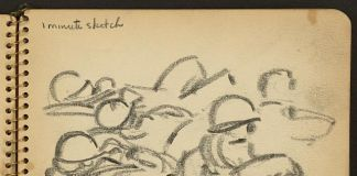Victor A. Lundy, 1 minute sketch, 1944