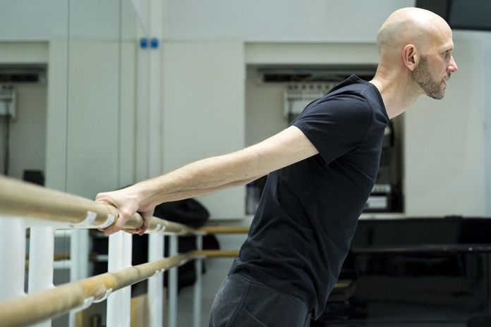 Wayne McGregor in rehearsal for Obsidian Tear, 2016, photo Andrej Uspenski. Credit Wayne McGregor