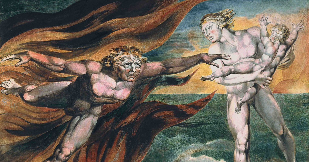 William Blake, The Good and Evil Angels, 1795 1805 ca. Tate