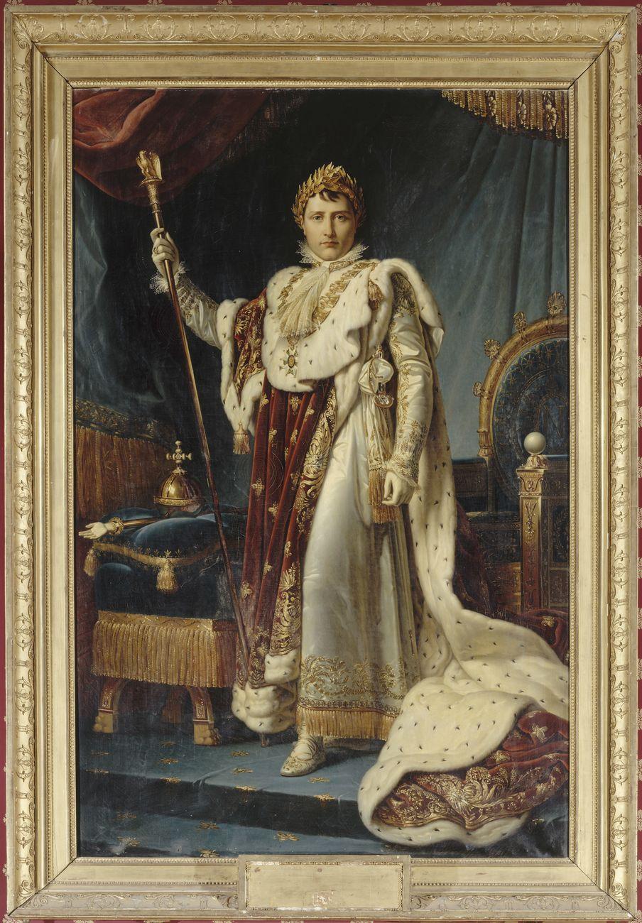 © Reunion des Musees Nationaux – Grand Palais. François Gérard, Napoleone con gli abiti dell'incoronazione, olio su tela, 1805 (Ajaccio, Palais Fesch-Musée des Beaux-Arts)