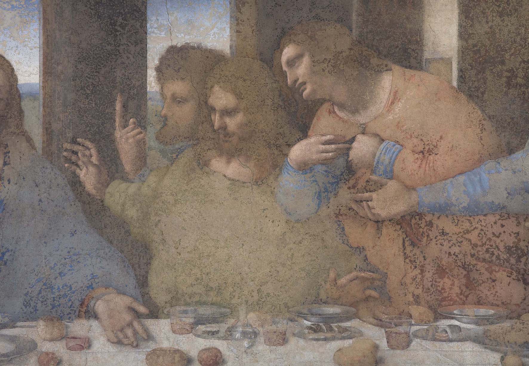 Leonardo da Vinci, Ultima Cena (particolare)