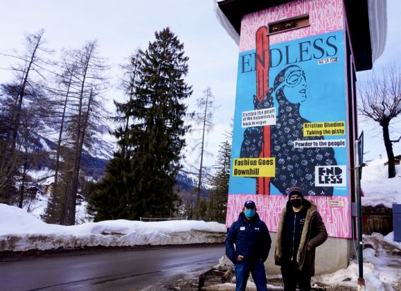Kristian Ghedina e Endless1_Ski_World_Cup_2021_Powder_To_The_People_Cris_Contini_Contemporary_Art_Gallery
