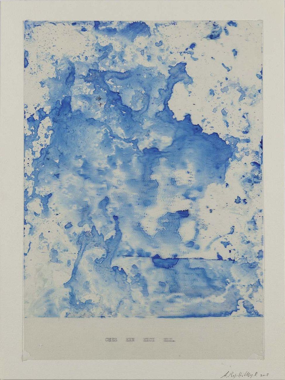 Alfredo Rapetti Mogol, Che sei nei cieli, 2018, inchiostro su acetato