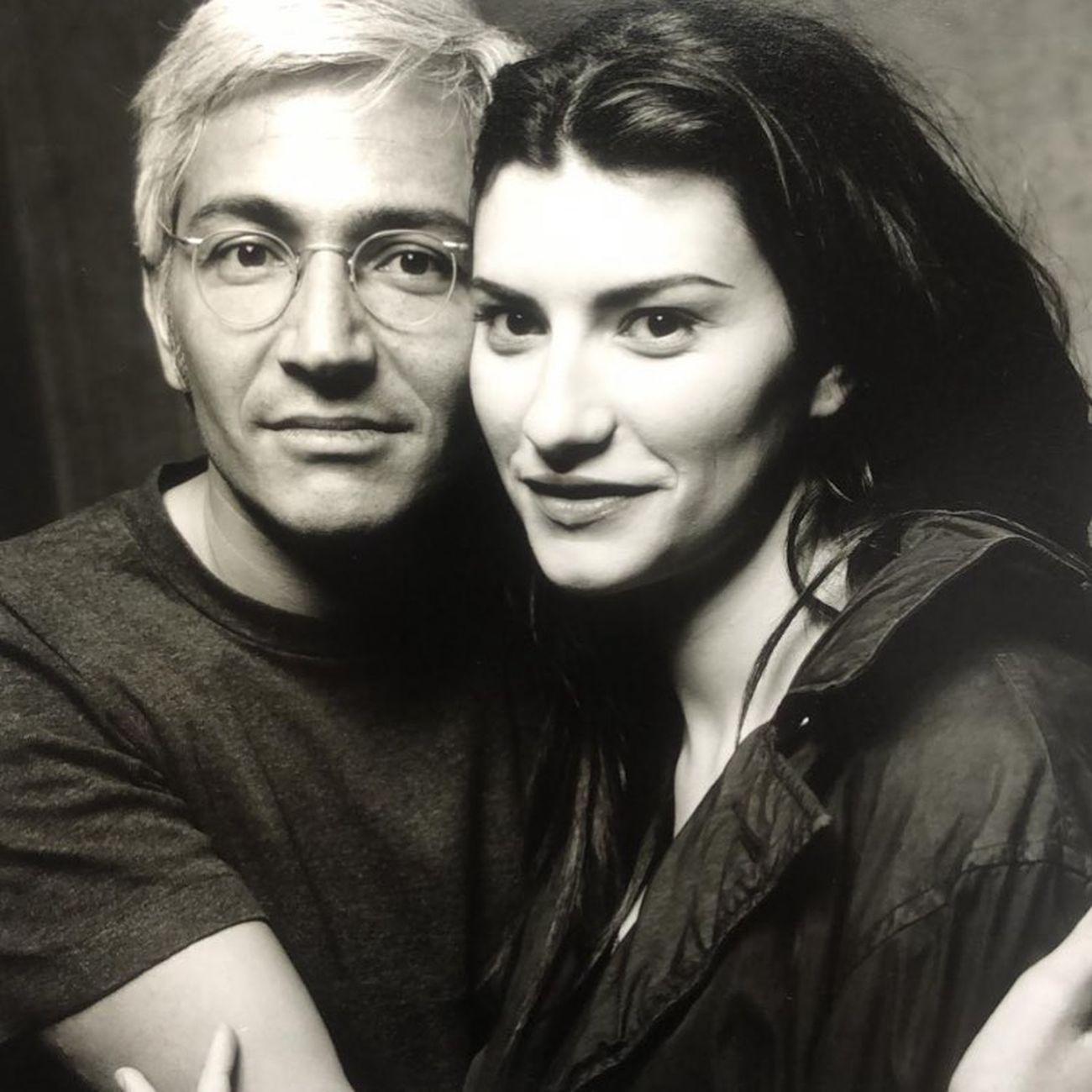 Alfredo Rapetti Mogol e Laura Pausini, 1998. Photo Fabrizio Ferri
