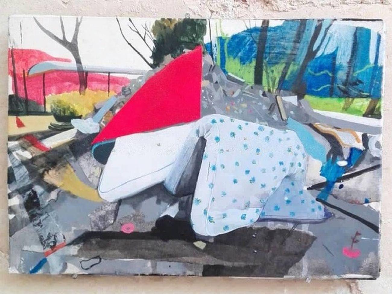 Anna Capolupo, Studio di paesaggio, 2019, tecnica mista su carta, 30x25 cm