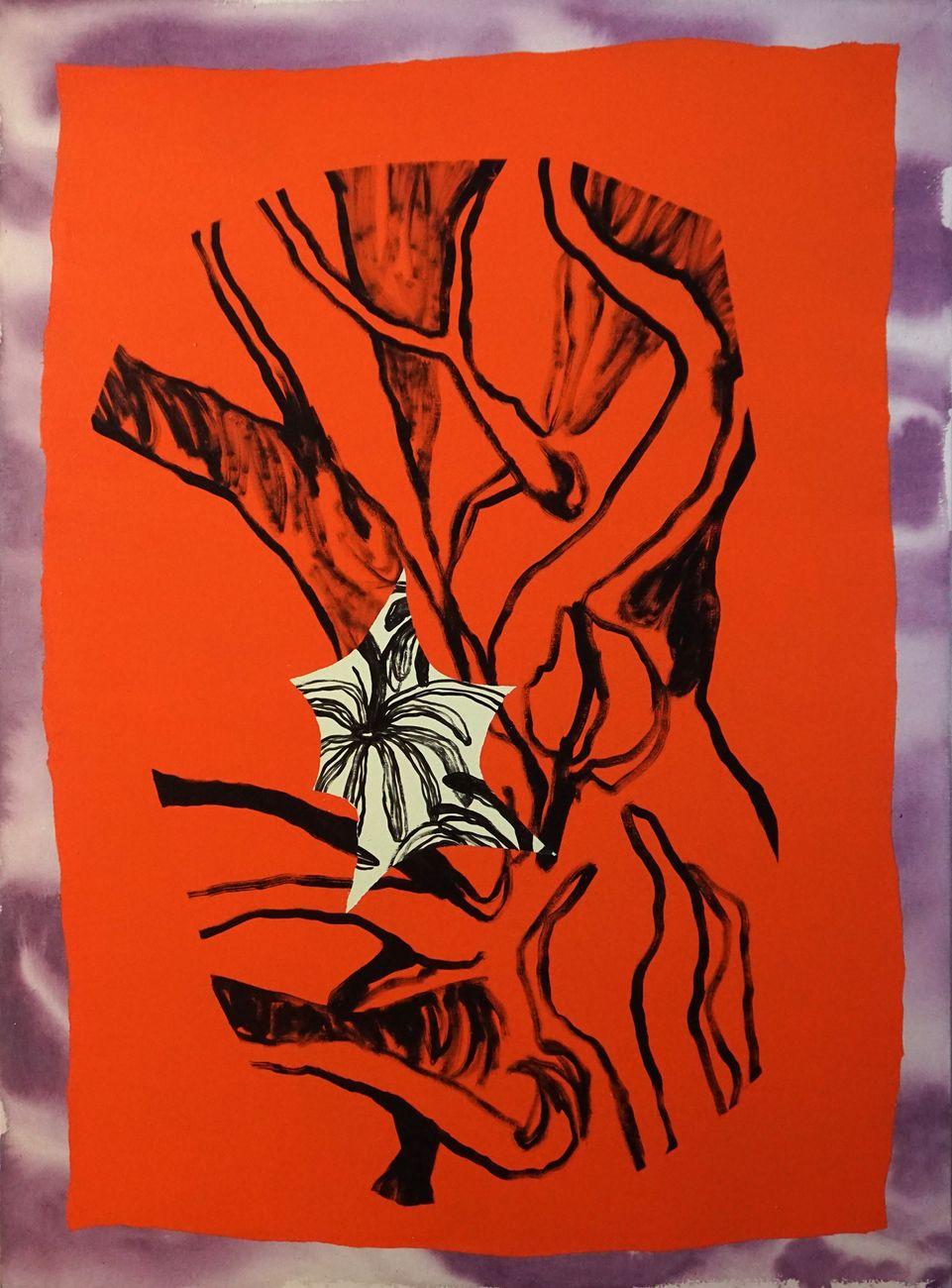 Anna Marzuttini, Quasi primavera, 2020, acrilico su tela, 110 x 80 cm