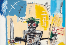 Jean-Michel Basquiat, Warrior, 1982. Courtesy Christie's Images Ltd 2021.