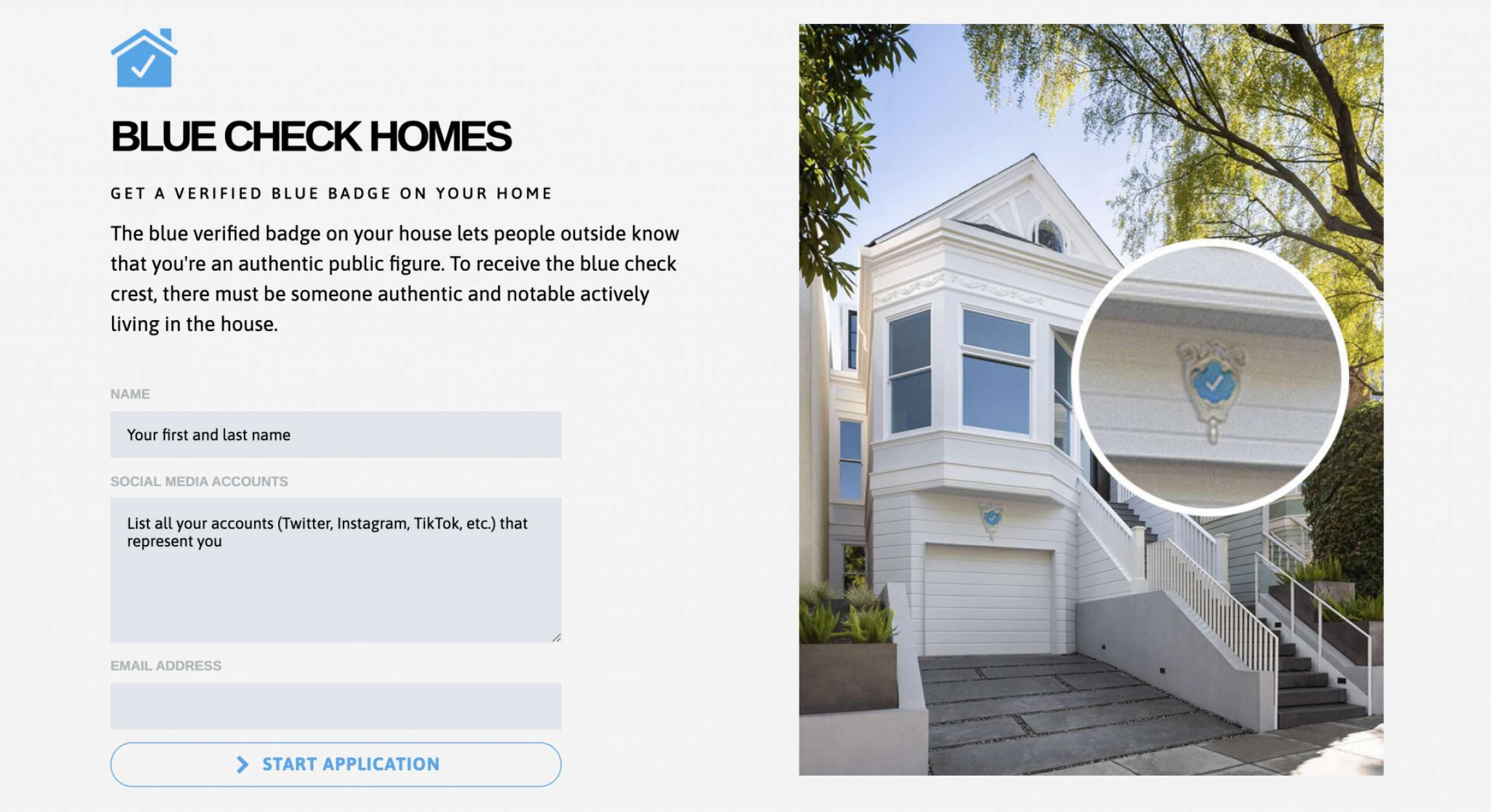 Blue Check Homes Courtesy of Danielle Baskin