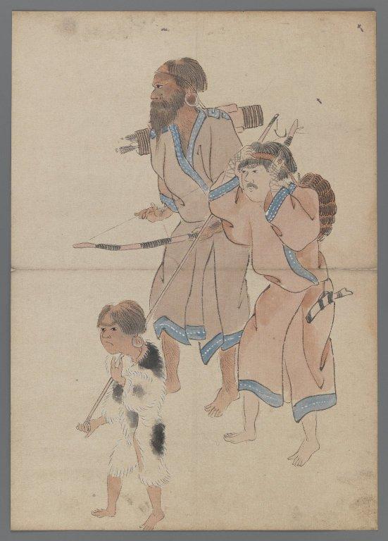 Cacciatori Ainu, XIX Secolo. Brooklyn Museum, New York